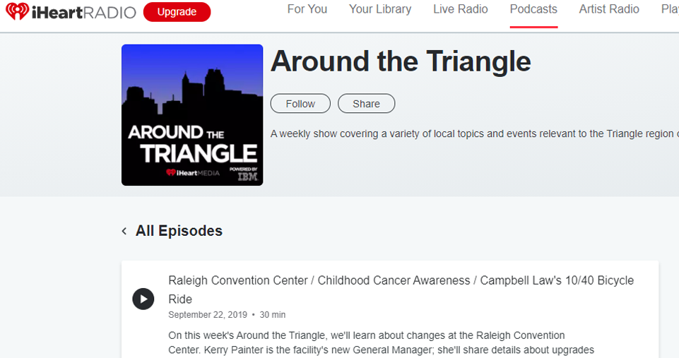 iHeart Media Around the Triangle Podcast