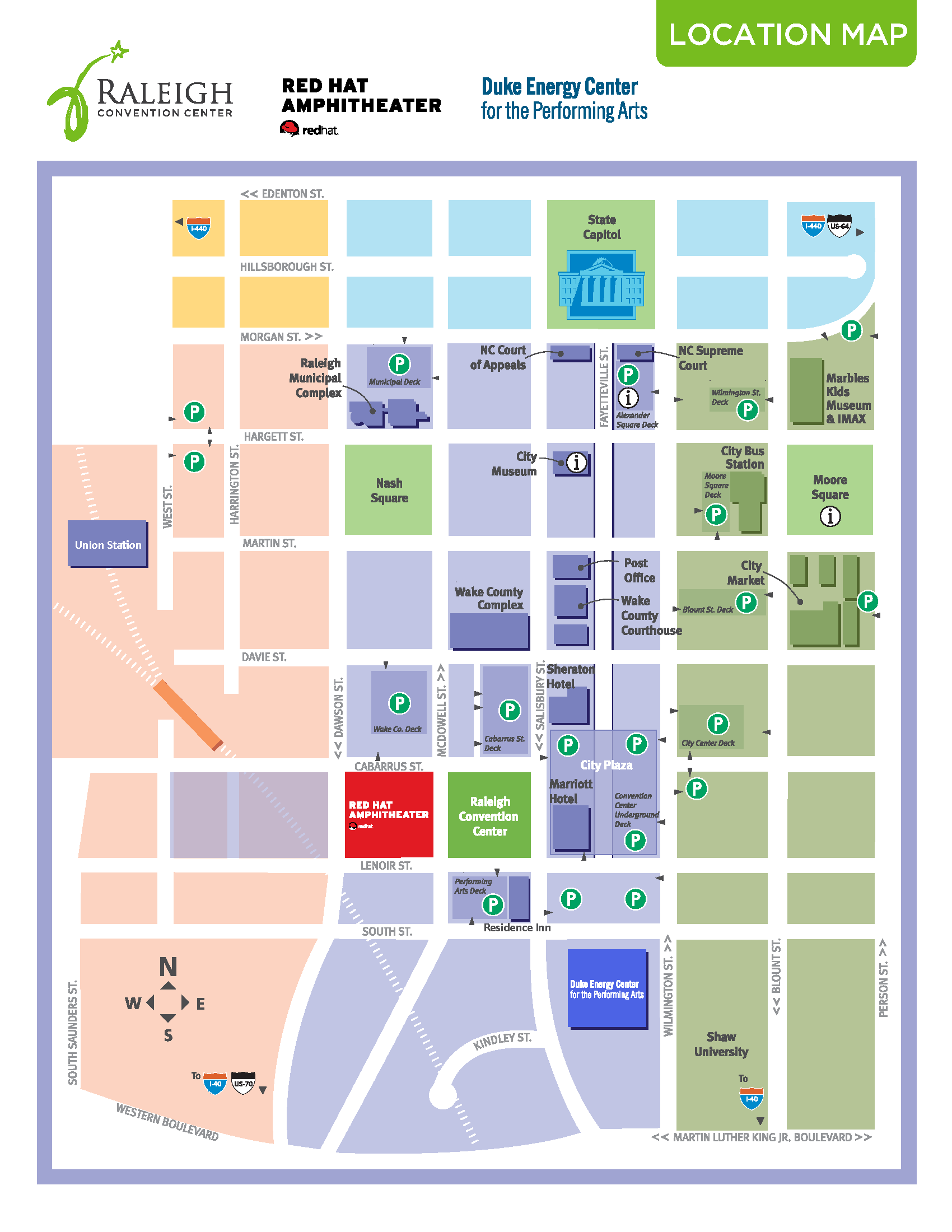 Downtown Raleigh Map